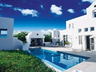 Sky Villa - Sleek beachfront villa atop Temenos with 3 private terraces & pool - Long Bay Village vacation rentals