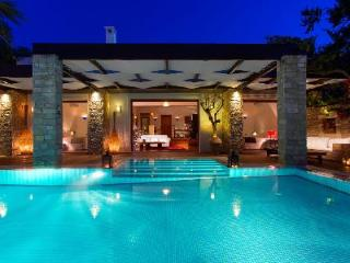 Chic Royal Spa Villa on serene private beach with tranquil heated pool- jetted tub - Tragaki vacation rentals