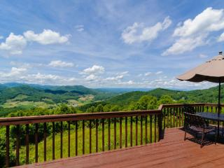 Shekinah - Spectacular views of 3 states, on 80 acres, game room - Candler vacation rentals
