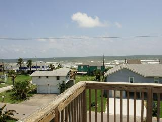 Spacious home has great views of the beach from either of the large decks! - Galveston vacation rentals