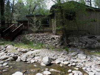 A Stone's Thoreau is an amazing riverside 2 bedroom 2 bath mountain getaway. - Ruidoso vacation rentals
