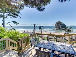 Oceanside home with private hot tub, views of Haystack Rock! - Cannon Beach vacation rentals