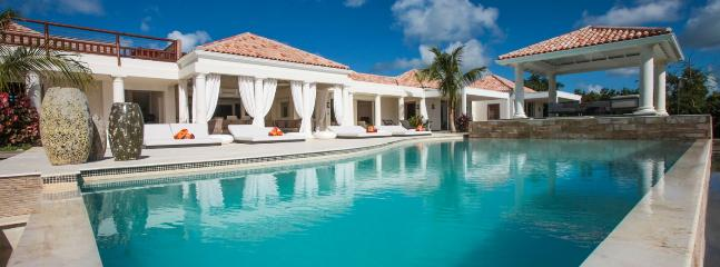SPECIAL OFFER: St. Martin Villa 59 A Modern And Spacious Villa Overlooking The Caribbean Sea. This Brand New Villa Was Tastefully Designed. - Image 1 - Terres Basses - rentals