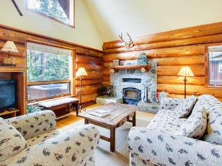 Private hot tub on the deck, overlooking the woods - Carnelian Bay vacation rentals