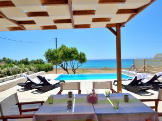 Mary beach villa tria luxury beachfront villa - Frangokastellon vacation rentals