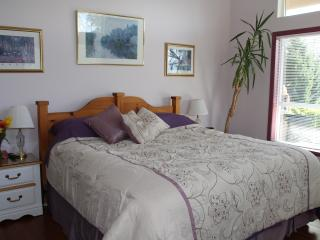Your king sized bed in Lavender Room - Sechelt vacation rentals
