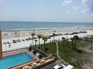 Ocean front top-floor view of ocean/beach sunrise - Daytona Beach vacation rentals
