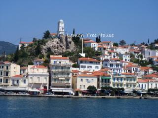 POROS ISLAND- overlooking the harbour-slps 2-10 - Poros vacation rentals
