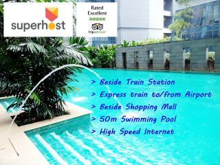 Luxurious Apt in KL City, 6pax, Train & WiFi - Kuala Lumpur vacation rentals