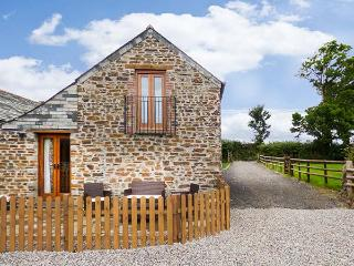 TREBYTHAN, remote converted barn, pet-friendly, private patio, en-suite, WiFi, Launceston, Ref 926574 - Launceston vacation rentals