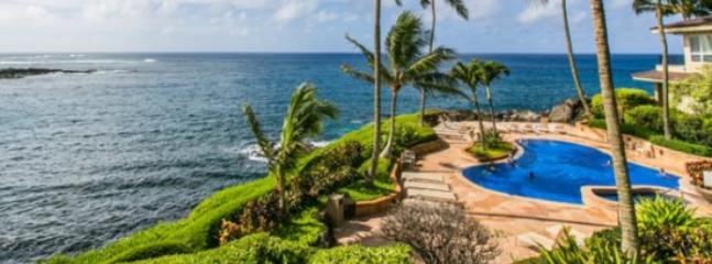 View - Free Car* with Whalers Cove 222 - Oceanfront 2B/2B condo centrally located near shopping & beach! Heated pool and hot tub. - Poipu - rentals