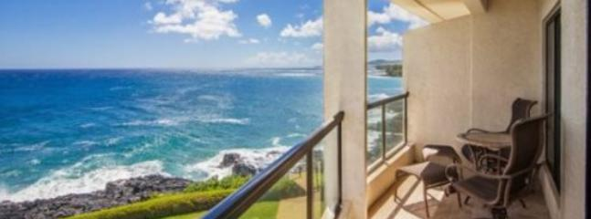 lanai - Free Car* with Poipu Shores 304A - Gorgeous, renovated oceanfront gem. 2 bed/2 bath, heated Pool! - Poipu - rentals
